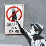 Banksy, Graffiti is a Crime (thumb)