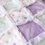 Whitney Hurst - The Cuddly Quilt - Lavender & Mint Rag Quilt